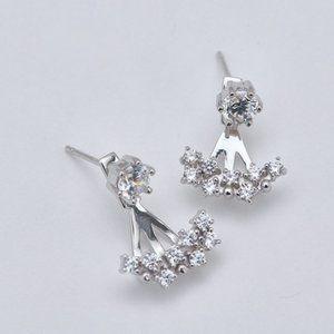 925 Sterling Silver CZ Ear Jackets
